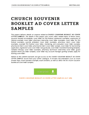 27 Printable Marketing Cover Letter Examples Forms and Templates  Fillable Samples in PDF Word