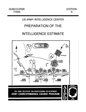 Fillable Online IT0565 Preparation of the Intelligence