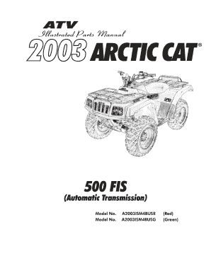 Fillable Online shop arcticcat 2003 ATV Service Manual