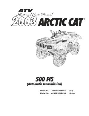 Fillable Online shop arcticcat 2003 ATV Service Manual