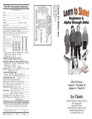 Fillable Online 2013-2014 Intermediate Registration Fax