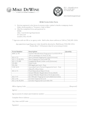 Fillable Online ohioattorneygeneral BCI Identification