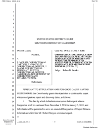 Fillable Online ORDER granting 52 stipulation to continue ...