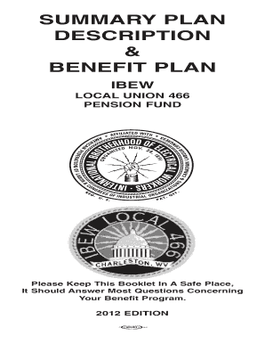 Fillable Online IBEW Local Union 466 Pension Fund