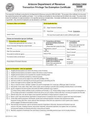 Tax Exempt Form Az - Fill Online, Printable, Fillable, Blank   PDFfiller