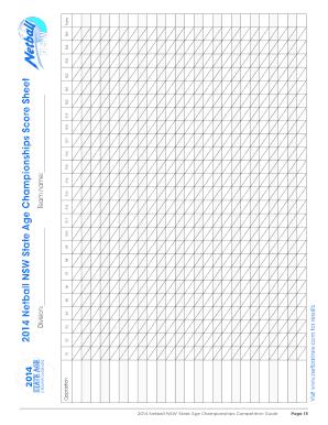 Get netball scoring sheet PDF Form Samples to Fill Online
