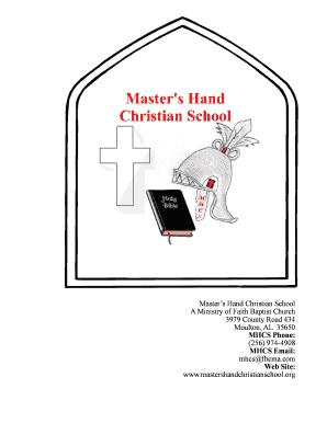 Fillable Online mastershandchristianschool Masters Hand