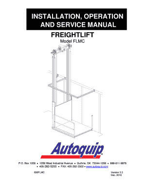 Fillable Online INSTALLATION OPERATION AND SERVICE MANUAL
