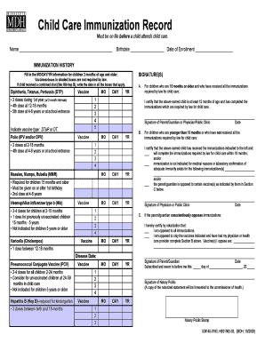 Sample Immunization Record Card Mamiihondenk Org