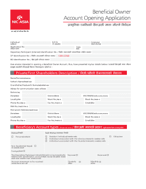 Nic Asia Account Opening Form Fill Online Printable Fillable Blank Pdffiller