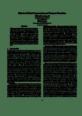 Fillable Online cs ryerson High-level Robot Programming