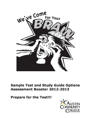 Printable college assessment test study guide Forms and