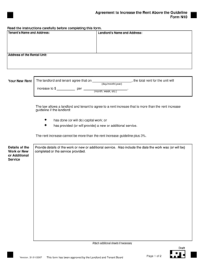 lease renewal form with rent increase Templates - Fillable ...