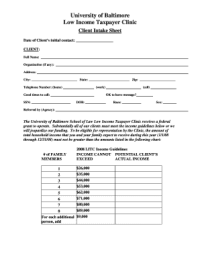 Law Client Intake Form - Fill Online, Printable, Fillable ...