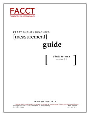 Fillable Online FACCT Quality Measures Guide March 1999