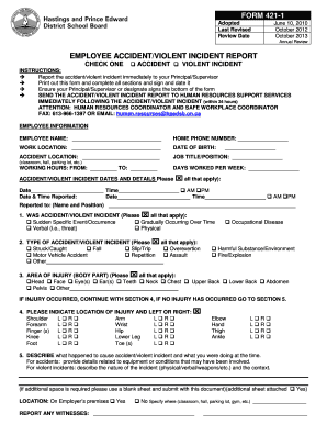 employee incident report template Forms - Fillable & Printable ...