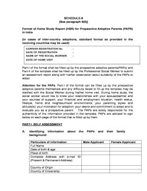 cara adoption medical certificate format - Edit, Fill, Print ...