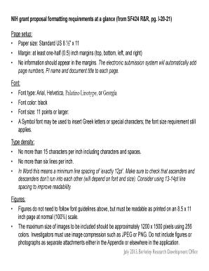 Nih Grant Proposal Format Fill Print & Download Online Samples