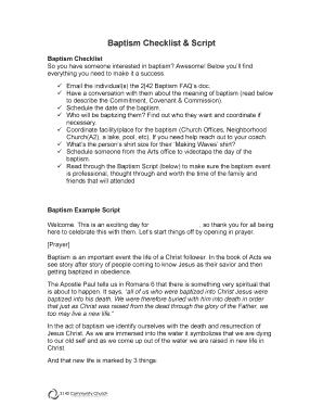 b242b baptism checklist amp