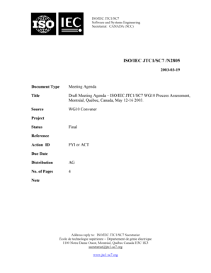 Fillable Online ISO/IEC JTC1/SC7 /N2805 Fax Email Print