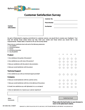 Use a feedback survey template so you can give out a document that your clients can answer based on how they feel about your services and offers. 18 Printable Customer Satisfaction Survey Form Templates Fillable Samples In Pdf Word To Download Pdffiller
