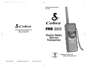 Fillable Online Family Radio Service Transceiver Fax Email
