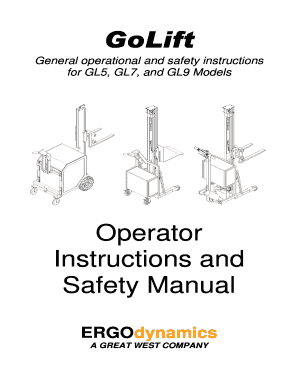 Fillable Online ergodynamics GoLift Operator Instructions