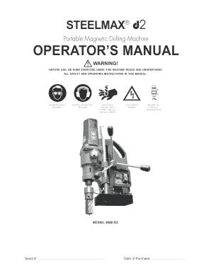 Fillable Online SteelMax D2 Operation Manual. 12-06 Fax