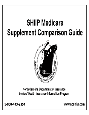 Fillable Online SHIIP Medicare Supplement Comparison Guide