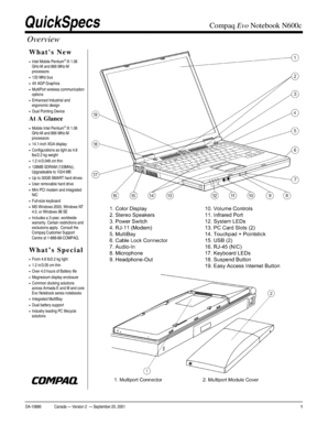 Fillable Online Compaq Evo Notebook N600c Fax Email Print