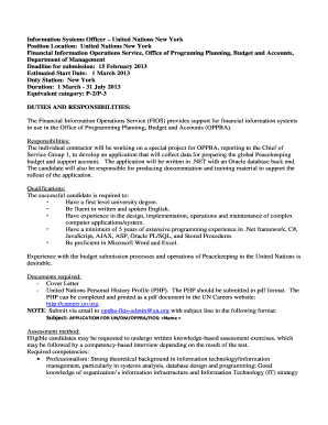 united nations cover letter format  Edit  Fill Out Top