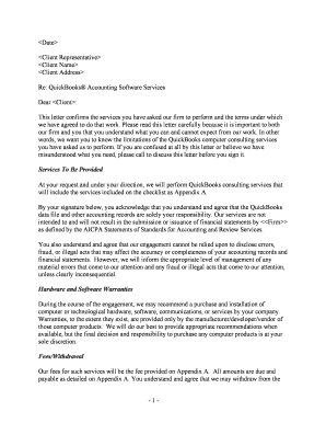 Aicpa Consulting Standards Engagement Letter Edit Fill