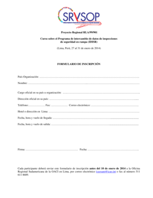 Fillable Online 99901 Form inscrip IDISR LIM 2014.doc Fax