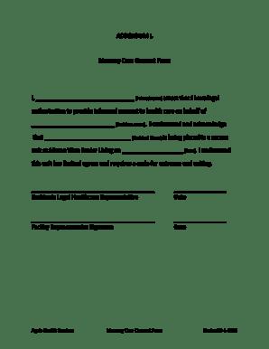 Fillable Online ADDENDUM L Memory Care Consent Form I