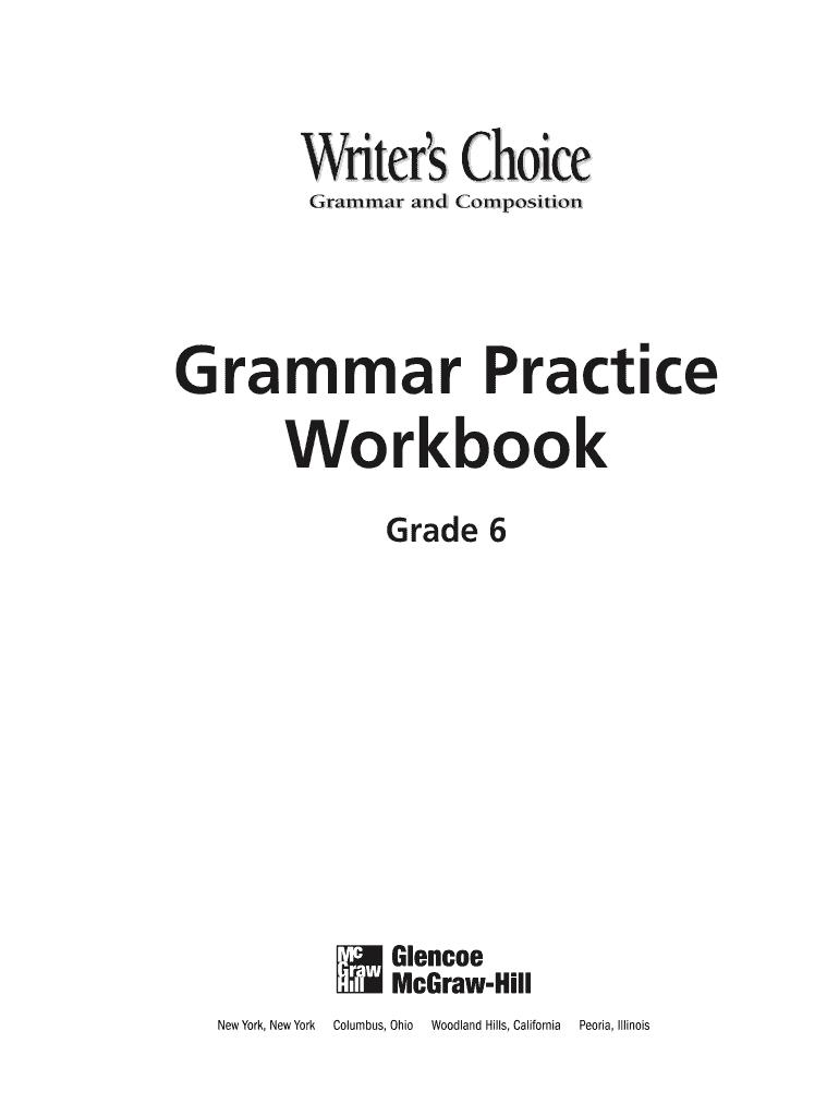 hight resolution of Glencoe Grammar And Composition Handbook Pdf - Fill Online
