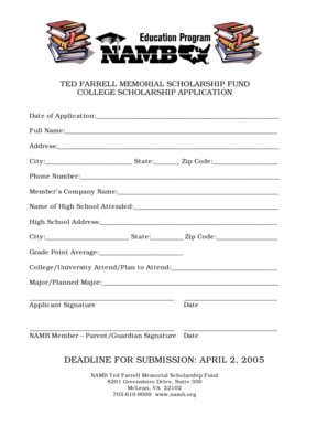 Fillable Online namb Application.doc. In today s world of