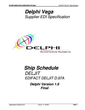 Fillable Online Delphi Vega Ship Schedule Fax Email Print