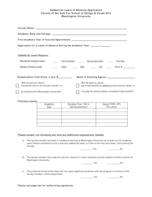 17 Printable leave of absence letter for school Forms and