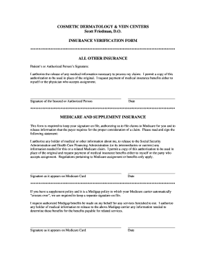 Fillable Online Medicare and Supplement Insurance Form ...