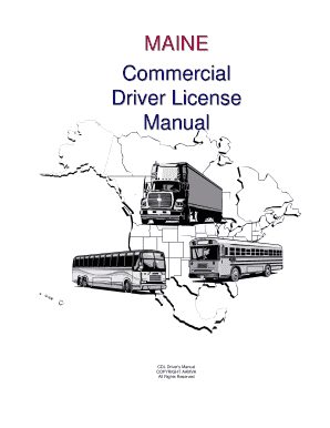 Fillable Online Maine Commercial Driver License Manual
