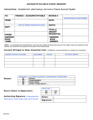 Editable accounts payable check request form - Fill Out, Print ...