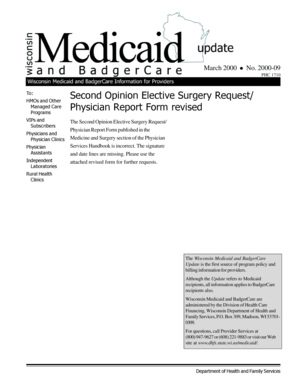 Fillable Online forwardhealth wi Wisconsin Medicaid and