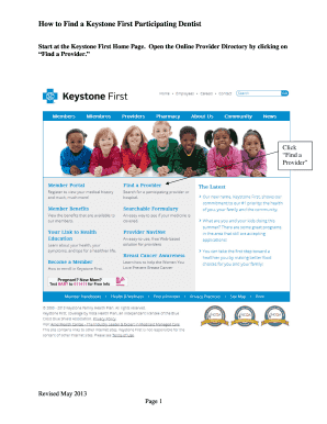 Keystone First Providers - Fill Online Printable ...