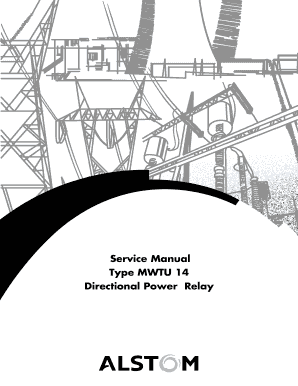 Fillable Online Service Manual Type MWTU 14 Directional