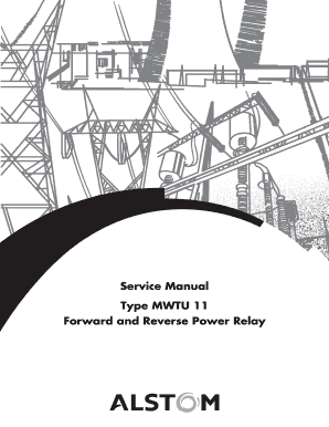 Fillable Online Service Manual Type MWTU 11 Forward and