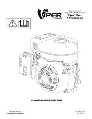 Fillable Online Viper 196cc 4-Cycle Engine