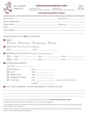 Printable venue booking agent contract - Edit, Fill Out & Download ...
