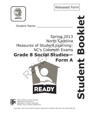 Fillable Online ncpublicschools Grade 8 social studies