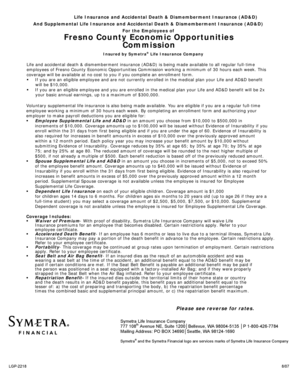 Fillable Online myfresnoeoc Voluntary Employee Dependent