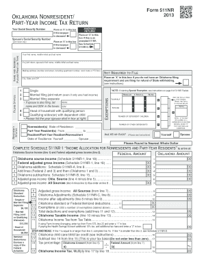 Fillable Online tax ok Includes Form 511NR (Nonresident